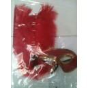 MASK RED FEATHER CELINE
