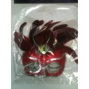MASK RED FEATHER SUZETTE