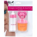 DOLLS WORLD MAGIC BOTTLES AND DUMMY