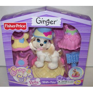 FISHER PRICE SNAP N STYLE POODLE GINGER