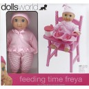 DOLLS WORLD FEEDING TIME FREYA