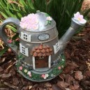 FAIRY FLORIST WATERING CAN SOLAR HOUSE