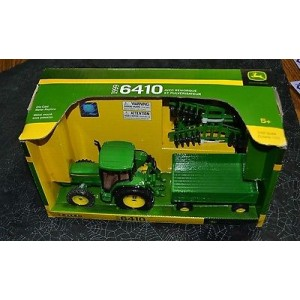 JD TRACTOR WITH WAGON AND DISK 6410