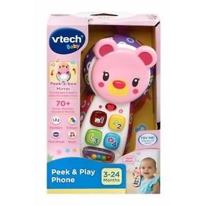 VTECH PEEK & PLAY PHONE PINK