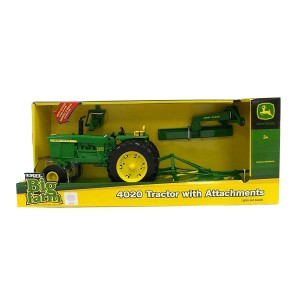 JD 4020 TRACTOR WITH ATTACHMENTS