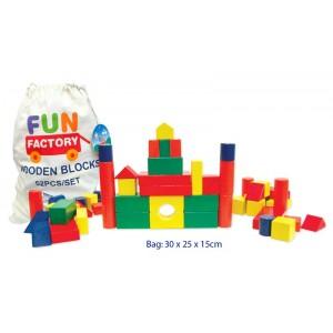 WOODEN BLOCKS 52 PIECE